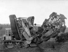Echipament nemtesc folosit pentru saparea transeelor, in ianuarie 1918