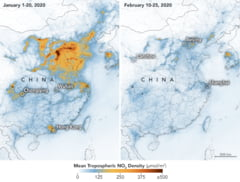 Efectul pozitiv al coronavirusului: Imaginile NASA arata reducerea poluarii in China (Foto)