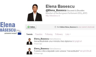 "Elena Basescu taxeaza ""inexactitudinile"" lui Funeriu pe Twitter"