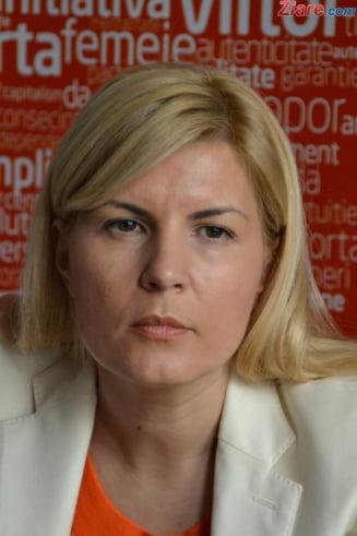 Elena Udrea: Am 300 de voturi in fata lui Vasile Blaga