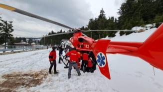 Elicopter SMURD, solicitat de urgenta pentru salvarea unui barbat accidentat pe partia Vartop