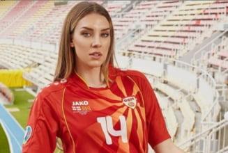 Eliminarea de la Euro 2020 o doare si pe ea! Cine e cea mai frumoasa macedoneanca ajunsa la Bucuresti FOTO