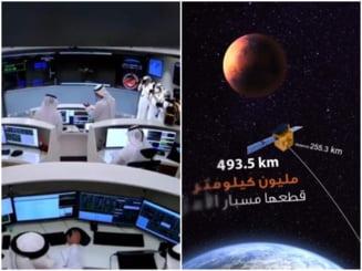 Emiratele Arabe Unite a devenit a cincea tara din lume care a plasat o sonda spatiala pe orbita planetei Marte
