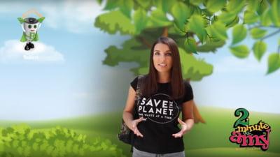 "Environ si SNRB lanseaza un nou proiect educational prin care ii invata pe copii sa protejeze mediul: Serialul ""2 minute cu AMY"""