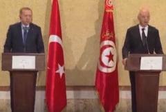 Erdogan si presedintele Tunisiei, discutii despre un posibil armistitiu in Libia