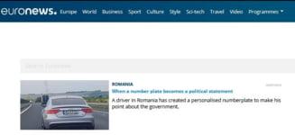 """Euronews scrie despre masina cu numere de Suedia: Un roman a platit 640 de euro pentru mesajul """"Fuck PSD"""""""