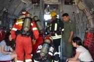 Exercitiu ISU Suceava. Incendiu la aterizarea unui avion de pasageri, pe Aeroportul Salcea VIDEO