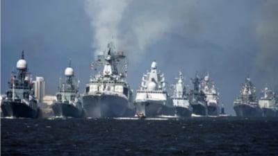 Exercitiu de forta a marinei ruse din Marea Neagra in intampinarea navelor de razboi trimise de Statele Unite. Situatia din Ucraina devine tot mai tensionata VIDEO