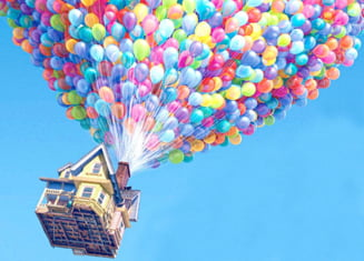 Experiment uimitor: O casa ridicata de baloane la 3 km inaltime (Video)