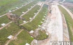 Explicatiile CNAIR despre alunecarea de teren de pe A10: se face expertiza si se va da o solutie de remediere