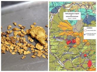 """Exploatarea aurului aluvionar, noul """"Eldorado"""" din Apuseni. Hurca si saitrocul, inlocuite cu draga si jgheabul"""
