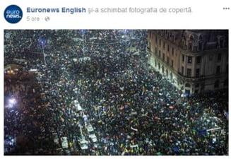 Explozie de comentarii dupa ce Euronews si-a pus cover la Facebook protestele de la Bucuresti