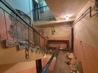 Explozie puternica intr-un bloc din Medgidia. Patru persoane au fost grav ranite si cateva zeci au fost evacuate