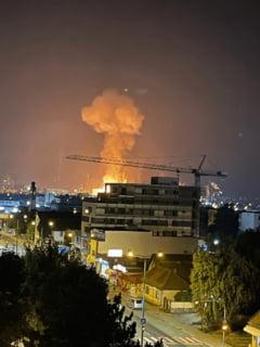 Explozie uriasa la Combinatul Azomures. Un barbat a fost ranit in momentul pornirii instalatiei de amoniac VIDEO