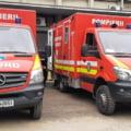 Explozie urmată de incendiu într-un bloc de apartamente din județul Brașov. Un bărbat a fost rănit
