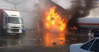 Explozie urmata de incendiu la o uzina din Prahova: 10 raniti, mai multe persoane in stare de soc