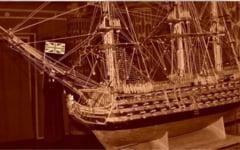 Exponatul lunii la Muzeul Dunarii de Jos: macheta vasului amiral al flotei engleze HMS Victory