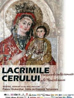 """Expozitia """"Lacrimile Cerului. Fecioarele inlacrimate ale Transilvaniei"""", la PALATUL BRUKENTHAL. Simbolic, o rugaciune si un ex voto adus Nascatoarei de Dumnezeu"""