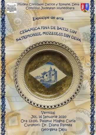"""Expozitie de """"Ceramica fina de Batiz din patrimoniul muzeului din Deva"""""""
