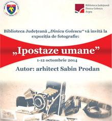 Expozitie de fotografie, la Biblioteca