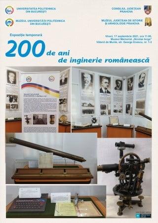 Expozitie la Valenii de Munte: 200 de ani de inginerie romaneasca