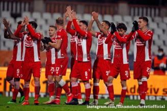 """Fără bani în cont și în insolvență, Dinamo reușeste încă o victorie în Liga 1. Deian Sorescu, din nou omul meciului pentru """"câinii roșii"""""""
