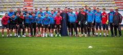 FAIN DE TOT! Parintele Constantin Necula, in vizita la FC... Hermannstadt