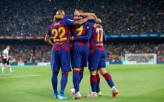 FC Barcelona, fara Messi pe teren, victorie la scor in derbiul cu Valencia