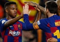 FC Barcelona, victorie cu 4-0 la primul meci oficial al sezonului. Pustiul Ansu Fati a fost eroul catalanilor