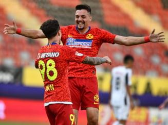 FCSB - Botosani 1-1 si echipa lui Becali se indeparteaza de titlu
