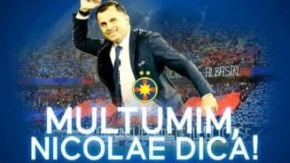 FCSB a anuntat oficial despartirea de Nicolae Dica. Vor mai pleca si alti doi oameni din club