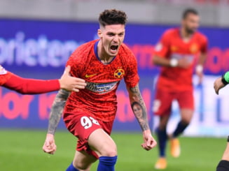 FCSB a castigat la Medias printr-un gol marcat din penalty in minutul 90 si a trecut pe primul loc in Liga 1