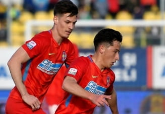 FCSB a spulberat-o pe Hermannstadt si revine pe locul secund in Liga 1. Ros-albastrii au dat 4 goluri in prima repriza