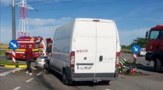 FOTO & VIDEO. Barbat mort in urma unui accident produs pe Varianta Ocolitoare a municipiului Caracal