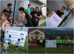 FOTO | 9.000 de lei adunati din meciul caritabil. Baietelul ce si-a pierdut mama in accidentul grav din Talmaciu a fost operat