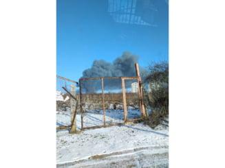 """FOTO - Arde restauratul """"La Castel"""""""