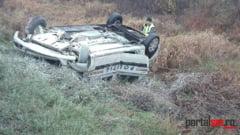 FOTO&VIDEO. Accident cu masina Politiei. Politistii erau in misiune, cu girofarul pornit
