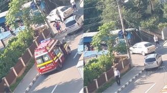 FOTO. ACCIDENT in RAMNICU VALCEA, pe strada Marasesti