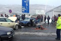 FOTO: Accident grav pe Bulevardul Muncii. Un sofer nevinovat a ajuns la spital