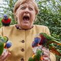FOTO: Angela Merkel a vizitat parcul de pasari din Marlow si a oferit imaginea zilei