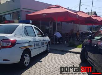FOTO. Incident grav in municipiul Satu Mare! Barbat injunghiat intr-o benzinarie