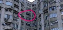 """FOTO: Un barbat a amenintat ca se arunca de la etajul 7 daca """"domnul presedinte Dragnea"""" nu este eliberat din puscarie"""