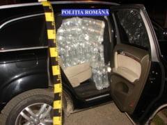 FOTO/ VIDEO Covasneanca, arestata pentru transport ilegal de alcool