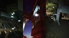 FOTO. Vantul a facut ravagii noaptea trecuta in Ramnicu Valcea