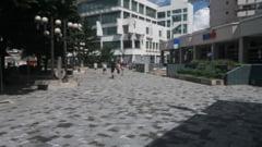 FOTO. Zona Primariei capata aspect european. Schimbare spectaculoasa dupa montarea pavajelor