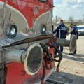 FOTO Accident feroviar in apropiere de Timisoara. Cinci persoane au fost ranite. Printre victime se afla si un copil