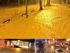 FOTO Capitala Croatiei a fost inundata in urma unei furtuni puternice