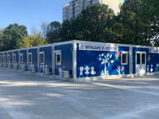 FOTO Cum arata primul spital modular din Romania destinat copiilor cu afectiuni grave. Centrul va functiona la Fundeni