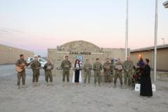 FOTO Cum au sarbatorit militarii romani din Afganistan Craciunul