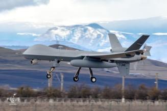 FOTO Drone MQ-9 Reaper, realizate pentru Fortele Aeriene ale Statelor Unite, au ajuns la baza de la Campia Turzii